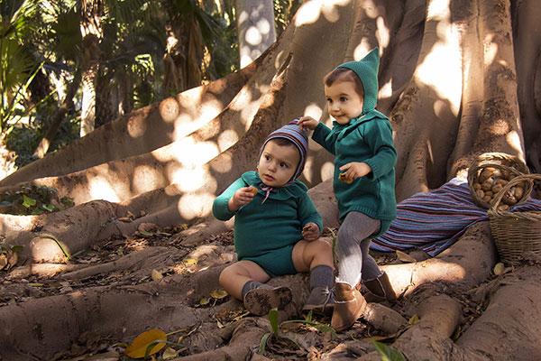 vestido punto jade capota ropa bebe