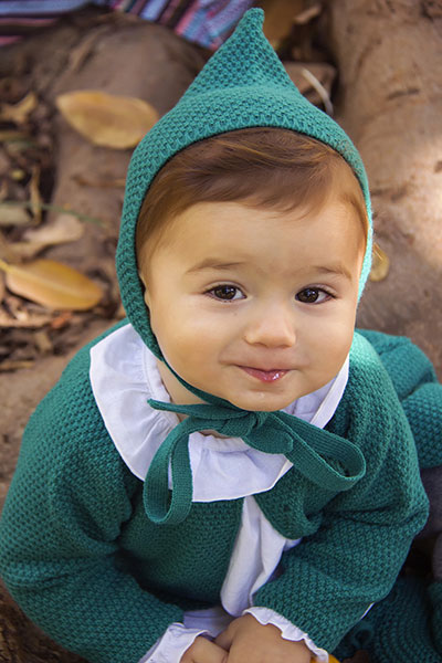 bebe verde moda infantil