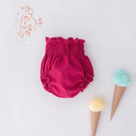 Barguita Lampone de color rosa fucsia y 100% algodón organico