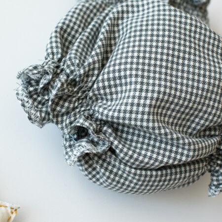 Culotte cuadros grises y Crema