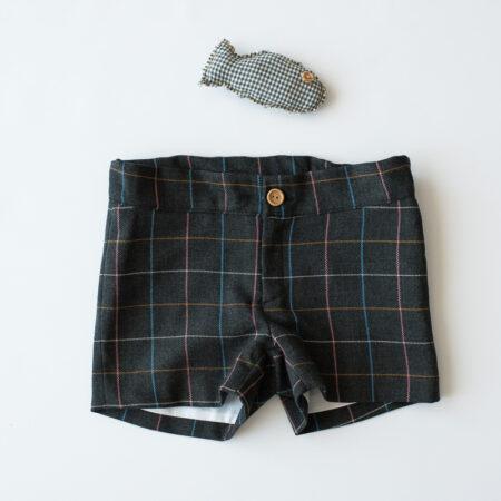 pantalon gris marengo de cuadros