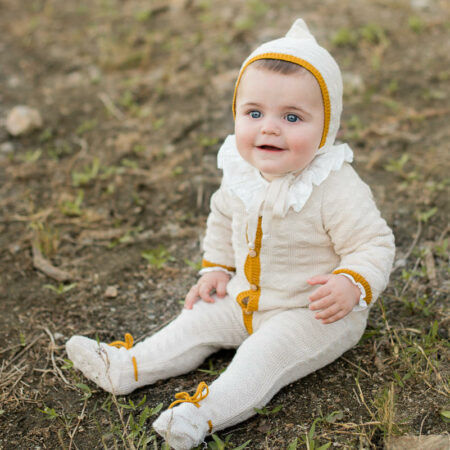 Buzo bebé crema y mostaza