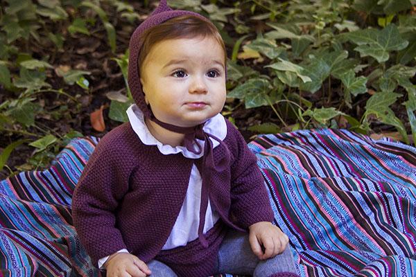 rebeca punto berenjena moda infantil