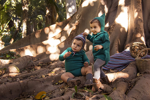 vestido punto jade moda infantil